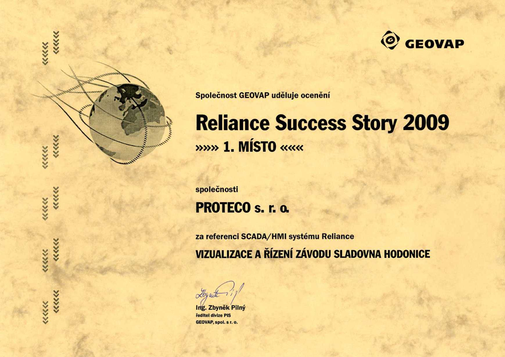 Reliance Success Story 2009